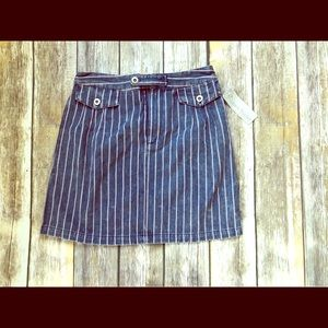 Denim stripe skirt sizeSmall